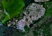 Satellite image of Flevopolder, Netherlands (5.48E 52.43N)