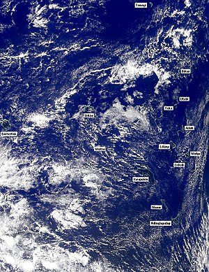 Forever Marshall Islands - Image: Satellite image of Marshall Islands in March 1999