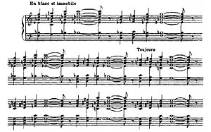 "Le Fils des étoiles - Opening of the first Prelude from Le Fils des étoiles, with its harmonically innovative ""stacks"" of fourths"