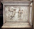 Scarpagnino, rilievi dell'arcone superiore dello scalone della scuola grande di san rocco, ante 1555, 01 cacciata dal paradiso terrestre.jpg