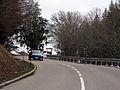 Schauinslandstraße unterhalb der Bergstation der Schauinslandbahn, Blick zur Passhöhe mit Lore.jpg