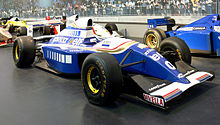 Photo de la Williams FW16 pilotée par Damon Hill en 1993
