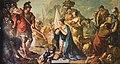 Scuola Grande dei Carmini - Sala dell'Archivio - Abigail calma e disarma David indignato contro suo marito Nabal di Giustino Menescardi.jpg