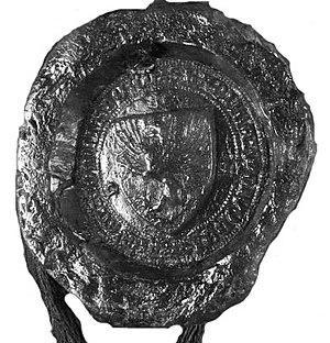 Ladislaus I Losonci - Seal of Voivode Ladislaus from 1391