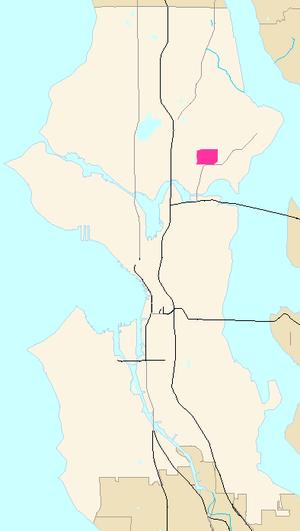 University Village, Seattle - Image: Seattle Map University Village