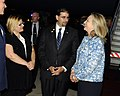 Secretary Clinton Is Greeted By Ambassador Shapiro and His Wife Julie Fisher (7583422140).jpg