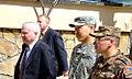 Secretary of Defense Robert M. Gates walks with Maj Wayne Don here Monday. (4416016119).jpg