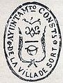 Segell de l'ajuntament de Sort del segle XIX.JPG