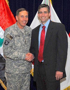 Michael Baumgartner - State Senator Baumgartner and former General David Petraeus, August 28, 2009
