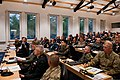 Senior enlisted military leaders from 32 nations listen to opening remarks from U.S. Navy Fleet Master Chief Petty Officer Roy M. Maddocks Jr., not shown, the senior enlisted leader of U.S. European Command 120906-A-IL200-954.jpg