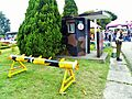 Sentry Box and Road Blocking Barrier in Hsinchu AFB Main Entrance 20120602.jpg