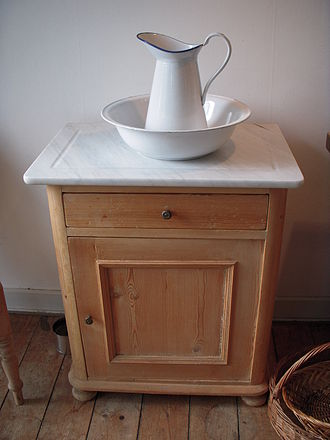 Washstand - A simple marble-topped washstand