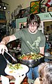 Serving food Community Place soup kitchen Little Grill Collective Harrisonburg VA May 2008.jpg