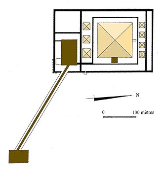 Senusret III - Plan of the Pyramid complex at Dashur