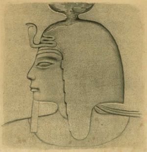 Setnakhte - Drawing of a relief of pharaoh Sethnakht.