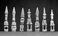 Seven carved wood statues representing Oma, a household god Wellcome M0019325EA.jpg