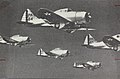 Seversky P-35 Drawing of a Squadron of Seversky P-35s (16336595685).jpg