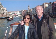 Shakira and Michael Caine in Venice.jpg