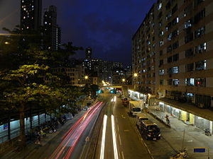Shek Kip Mei Street at night.JPG