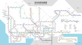 rapid transit network in Shenzhen