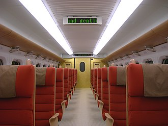 800 Series Shinkansen - Image: Shinkansen 800 series 826 1107 inside