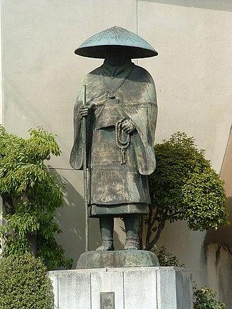 Shinran - Statue of Shinran Shonin in Kyoto.
