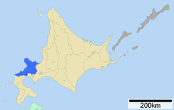 Location of Shiribeshi Subprefecture