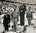 Shozo Makino, Jack Medica, Shunpei Uto 1936.jpg