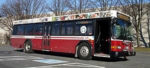 Shuttle-UM - A Shuttle-UM 35 ft. Gillig Low Floor bus