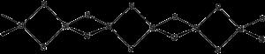 Silicon disulfide - Image: Si S2