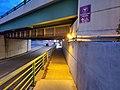 Sidewalk on Chauncy Street underpass at Mansfield station, October 2020.jpg