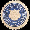 Siegelmarke Civitatis Secretum Krempe W0215984.jpg