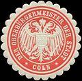 Siegelmarke Der Oberbürgermeister der Stadt Köln W0345218.jpg