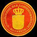 Siegelmarke Grossherzoglich Badischer Landescommissair - Mannheim W0232845.jpg
