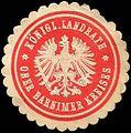 Siegelmarke K. Landrath - Ober Barnimer Kreises W0214751.jpg