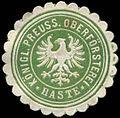 Siegelmarke K. Pr. Oberförsterei-Haste W0256082.jpg