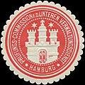 Siegelmarke Prüfungs-Commission f.d. unteren Verwaltungsdienst Hamburg W0361517.jpg