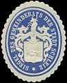 Siegelmarke Siegel des Gemeinderats der Stadt Schleiz W0349254.jpg