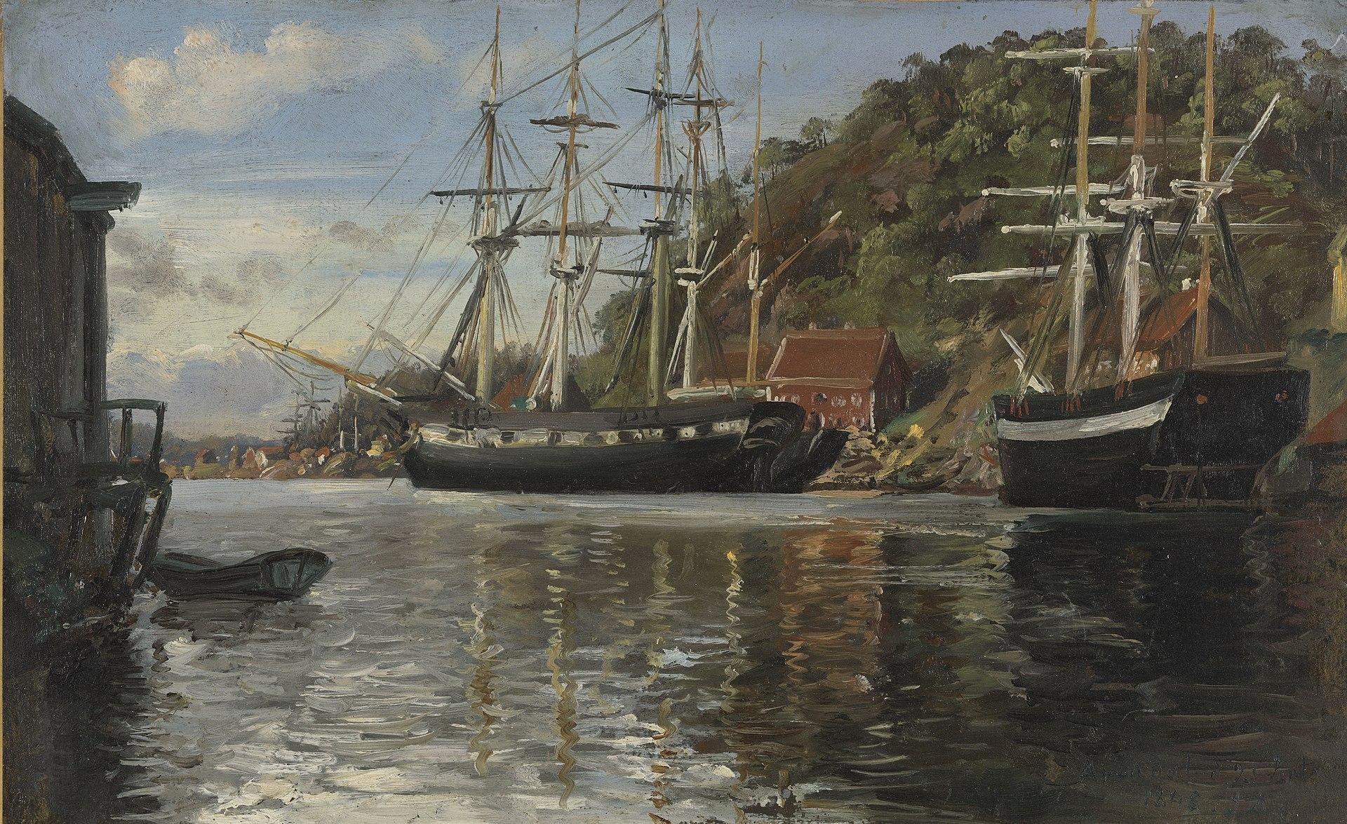 Зигвальд Даль - Из гавани в Арендале - NG.M.01202 - Национальный музей искусства, архитектуры и дизайна.jpg