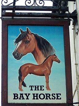 Sign for the Bay Horse, Ashburton - geograph.org.uk - 1309023