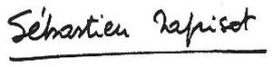 Sébastien Japrisot - Image: Signature Japrisot
