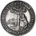 Silbermuenze Anhalt-Bernburg (Bergbau Birnbaum) vorn.png