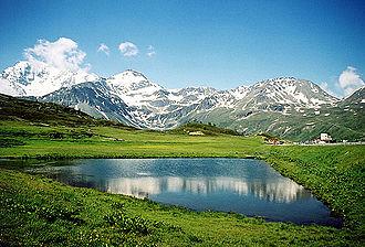Simplon-Passhöhe: Bergsee