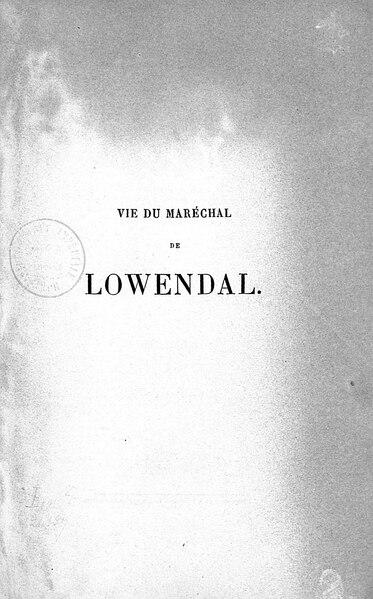 File:Sinéty - Vie du maréchal de Lowendal, 1868, tome 2.djvu