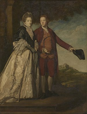Sir Watkin Williams-Wynn, 4th Baronet - Portrait of Sir Watkin Williams-Wynn and his mother, by Sir Joshua Reynolds, ca. 1768