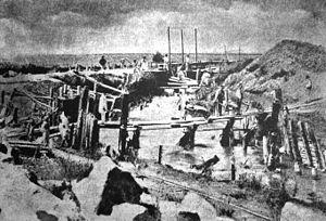Dâmbovița River - Image: Sistematizare Dâmboviţa 1881 1886