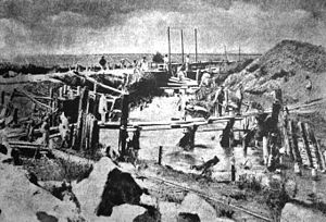 Nicolae Fleva - Public works on the Dâmboviţa River, ca. 1881–1886