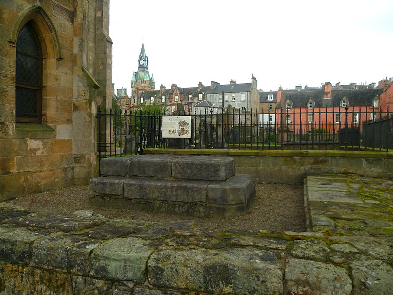 File:Site of the shrine of St. Margaret, Dunfermline Abbey Fife.jpg