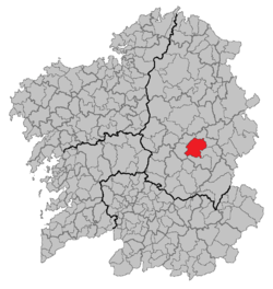 Situation of Sarria within Galicia