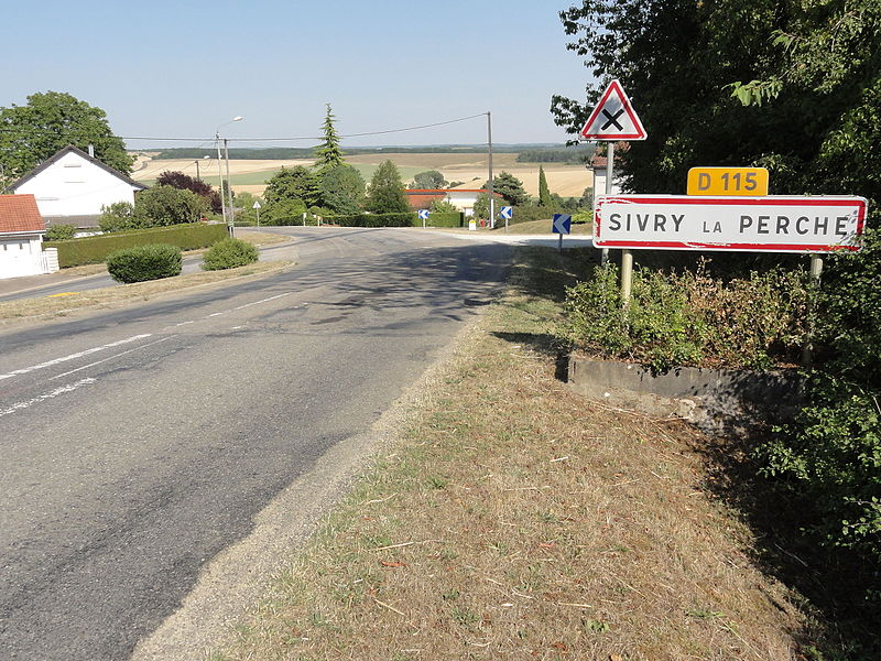Sivry-la-Perche (Meuse) city limit sign